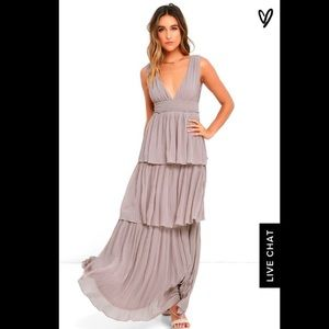 NWT Gently Adrift Taupe Maxi from lulus, M